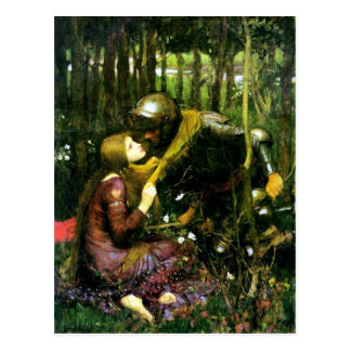 Waterhouse Beautiful Woman Without Mercy Postcard