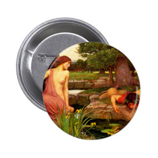 Waterhouse Echo and Narcissus Button