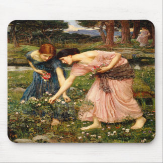 Waterhouse Gather Ye Rosebuds Mouse Pad