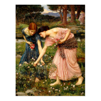 Waterhouse Gather Ye Rosebuds Postcard