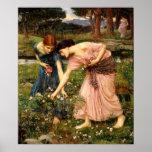 Waterhouse Gather Ye Rosebuds Poster