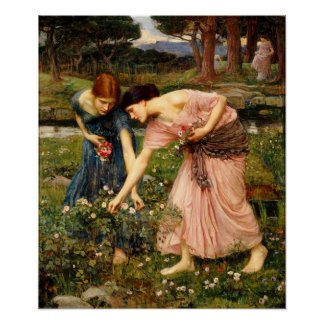 Waterhouse Gather Ye Rosebuds Poster