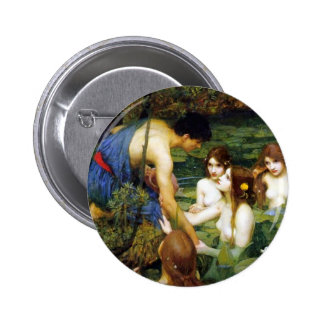 Waterhouse Hylas and the Nymphs Button