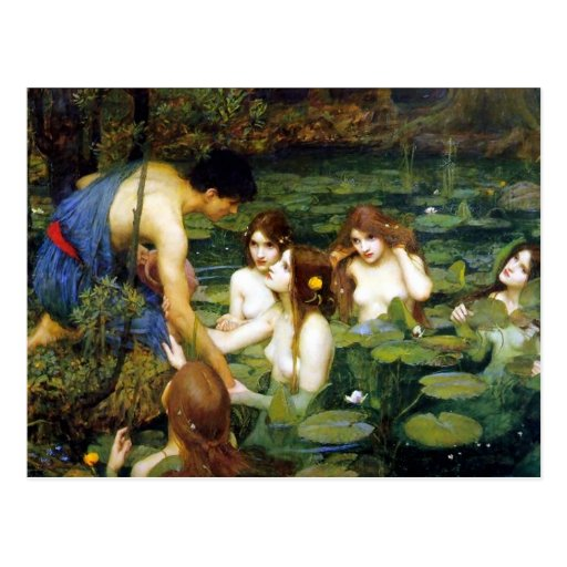 Waterhouse Hylas and the Nymphs Post Cards