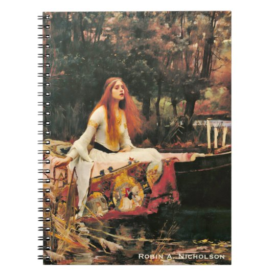 Waterhouse Lady of Shalott Personalised Spiral Notebook