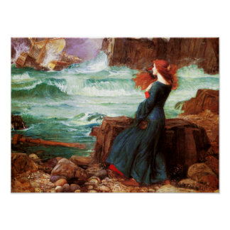 Waterhouse Miranda The Tempest Poster