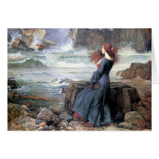 Waterhouse miranda the tempest woman ship wreck cards