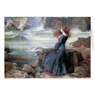 Waterhouse miranda the tempest woman ship wreck greeting card