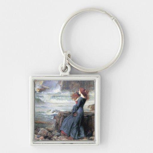 Waterhouse miranda the tempest woman ship wreck keychains