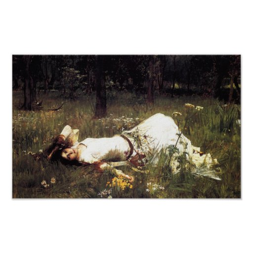 Waterhouse Ophelia Poster