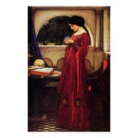 Waterhouse The Crystal Ball Poster
