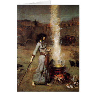 Waterhouse The Magic Circle Greeting Card