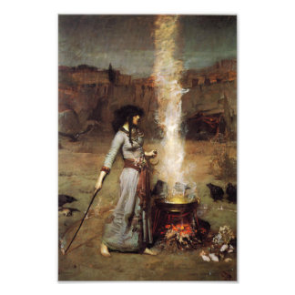 Waterhouse The Magic Circle Print Photographic Print