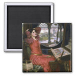 Waterhouse's Lady of Shalott Square Magnet