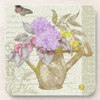 Watering Can Flowers Coaster