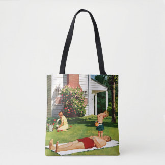 Watering Father Tote Bag