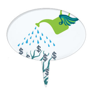Watering Money Tree Cake Topper