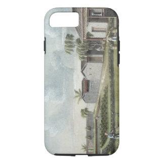 Watering tea plants (w/c on paper) iPhone 8/7 case