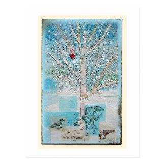 watering the love tree postcard