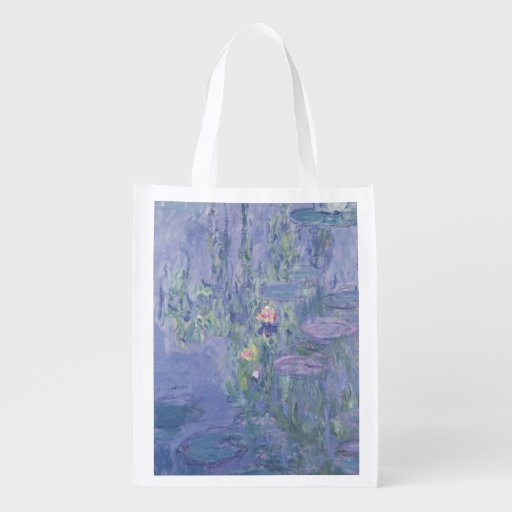 Waterlilies, 1907 (oil on canvas) reusable grocery bag