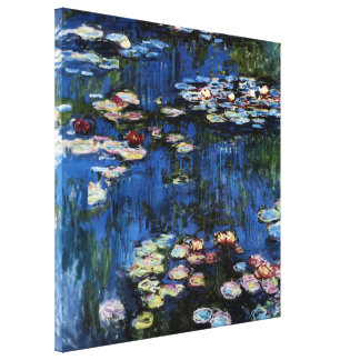 Waterlilies; 1914 by Monet Stretched Canvas Print