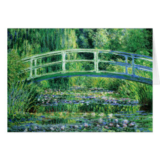 Waterlilies and Japanese Bridge, Claude Monet Card