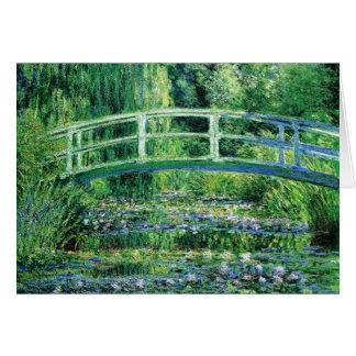 Waterlilies and Japanese Bridge Claude Monet Card