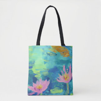 Waterlilies and Koi Tote Bag