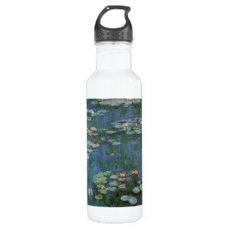 Waterlilies by Claude Monet, Vintage Flowers 710 Ml Water Bottle