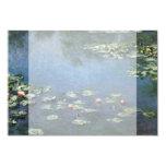 Waterlilies by Claude Monet, Vintage Flowers 9 Cm X 13 Cm Invitation Card