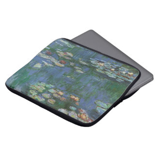 Waterlilies by Claude Monet, Vintage Flowers Computer Sleeves