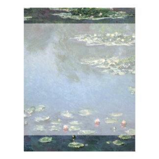 Waterlilies by Claude Monet, Vintage Flowers Flyer