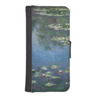 Waterlilies by Claude Monet, Vintage Flowers iPhone SE/5/5s Wallet Case