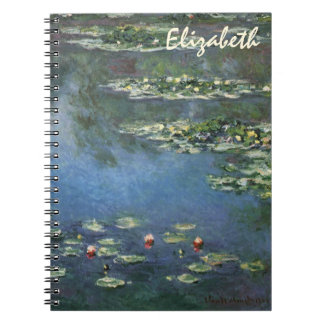 Waterlilies by Claude Monet, Vintage Flowers Notebook