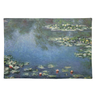 Waterlilies by Claude Monet, Vintage Flowers Placemat