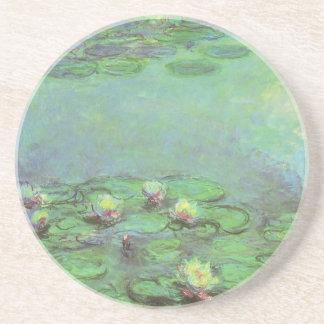 Waterlilies by Claude Monet, Vintage Impressionism Beverage Coasters