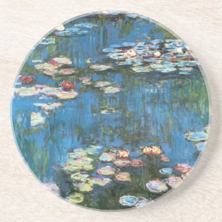 Waterlilies by Claude Monet, Vintage Impressionism Drink Coaster