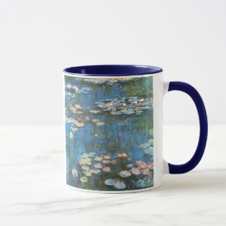 Waterlilies by Claude Monet, Vintage Impressionism Mug