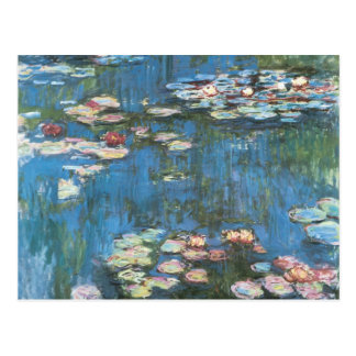 Waterlilies by Claude Monet Vintage Impressionism Post Cards