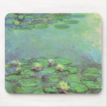 Waterlilies by Monet, Vintage Floral Impressionism Mouse Pads