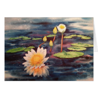 Waterlilies Greeting Card (All-Occasion)