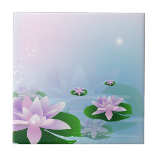 Waterlilies Small Square Tile