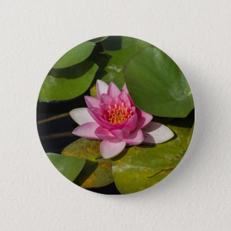 waterlily in the lake 6 cm round badge