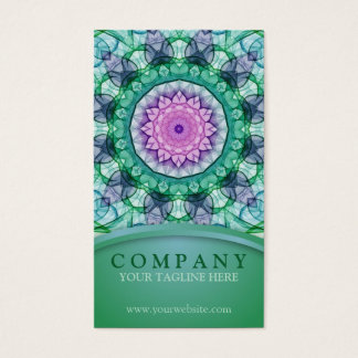 WaterLily Mandala Business Card