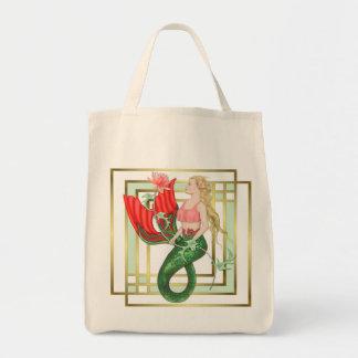 Waterlily Mermaid Tote Bag