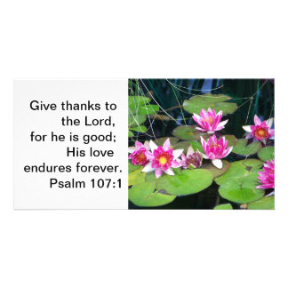 waterlily note card customized photo card