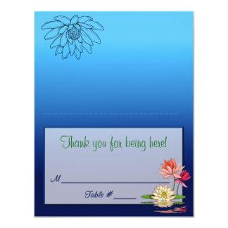 Waterlily Placecard 11 Cm X 14 Cm Invitation Card