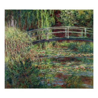 Waterlily Pond: Pink Harmony, 1900 Poster