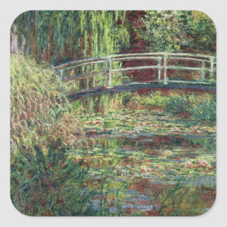 Waterlily Pond: Pink Harmony, 1900 Square Sticker