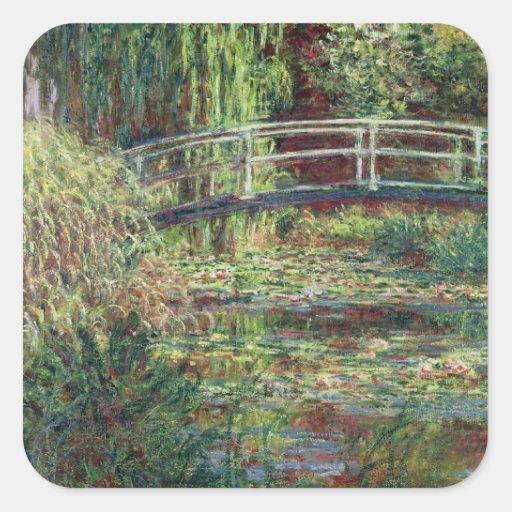 Waterlily Pond: Pink Harmony, 1900 Sticker